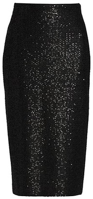 St. John Soft Sequin Knit Pencil Skirt