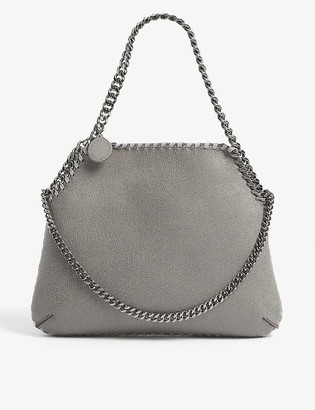 Stella McCartney Womens Grey Falabella Medium Faux-leather Shoulder bag