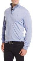 Brioni Quarter-Zip Wool Sweater, Blue