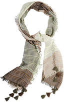 BCBGMAXAZRIA Color-Blocked Fringe Scarf