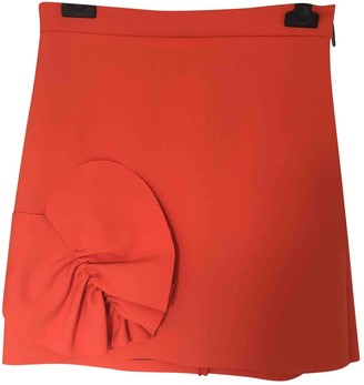 MSGM Orange Skirt for Women