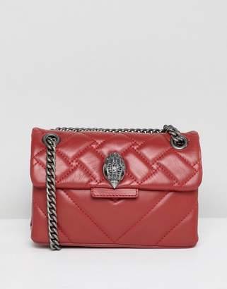 Kurt Geiger London Mini Kensington red leather cross body bag with chain