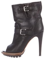 Belstaff Perforated Peep-Toe Boots