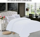 Elegant Comfort Down Alternative Silky-Soft Double-Fill Comforter Duvet Insert, Full/Queen, White
