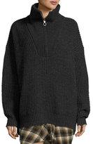 Isabel Marant Declan Half-Zip Pullover Sweater
