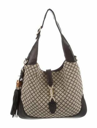 Gucci Medium Diamante New Jackie Hobo Black