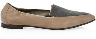 Brunello Cucinelli Monili-Trimmed Leather Loafers