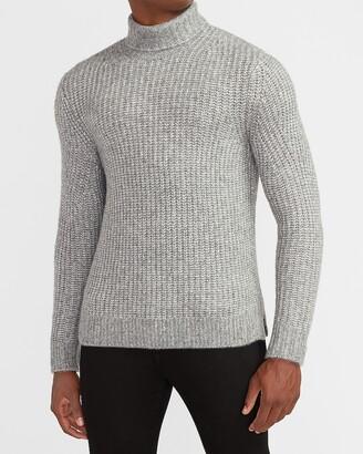 Express Cozy Marled Wool-Blend Turtleneck Sweater