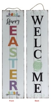 TX USA Corporation Welcome Easter Porch Sign