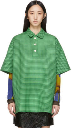 Sunnei Green Houndstooth Over Polo