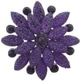 Lux Accessories Pave and Crystal Stone Floral Flower Bling Brooch Pin
