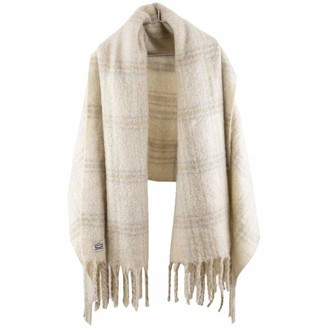 Levi's Women's Brushed Plaid Wrap Cold Weather Scarf