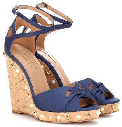 Aquazzura Harlow Wedge 115 wedge sandals