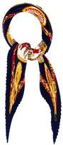 Hermes Chevaux De Trait Silk Plissé Scarf