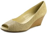 Isaac Mizrahi Perky Women W Open Toe Leather Wedge Heel.