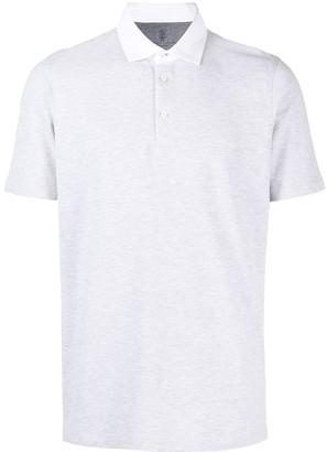 Brunello Cucinelli Contrast-Collar Polo Shirt