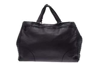 Bottega Veneta Black Leather Travel bags