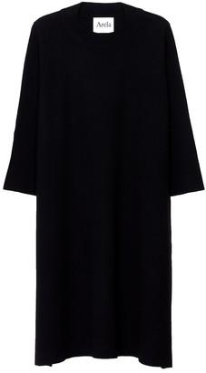 Arela Dolly Merino Wool Dress In Black