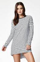 Rusty Axle Stripe Long Sleeve T-Shirt Dress