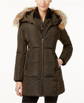 MICHAEL Michael Kors Faux-Fur-Trim Layered Puffer Coat