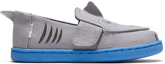 Toms Drizzle Grey Shark Face Applique Tiny Twin Gore Classics