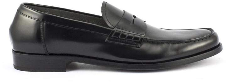 Doucal's Mocassins In Black Horse Leather
