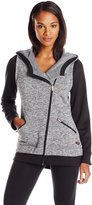 Calvin Klein Women's Sweater Fleece Asymmetric Jacket