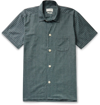 Oliver Spencer Loungewear - Townsend Striped Organic Cotton Pyjama Shirt - Men - Green