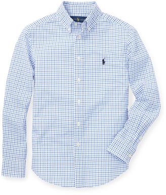 Ralph Lauren Kids Poplin Woven Tattersall Sport Shirt, Size S-XL