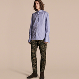 Burberry Skinny Fit Floral Jacquard Jeans