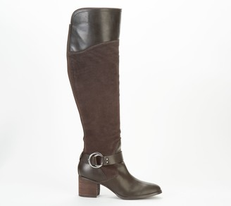Marc Fisher Leather/Suede Wide Calf Over the Knee Boots - Editer
