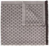 Gucci logo print scarf - women - Wool - One Size