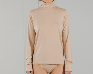 Base Range Nude Turtle Neck Top - S | nude - Nude