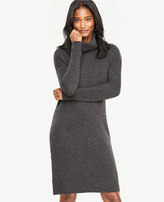 Ann Taylor Cashmere Turtleneck Sweater Dress