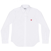Comme des Garcons Play Shirt With Small Red Heart Emblem