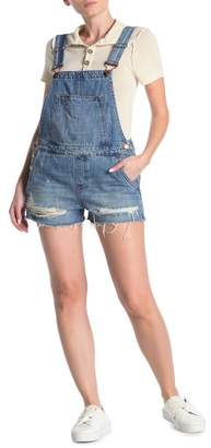 Blank NYC BLANKNYC Denim Destroyed Denim Short Overalls