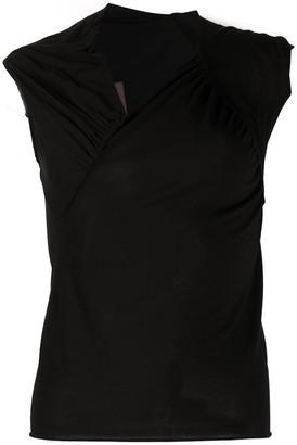 Rick Owens Lilies Ruched Detail Asymmetric Vest Top