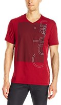 Calvin Klein Jeans Men's Outline Ck Logo V-Neck T-Shirt