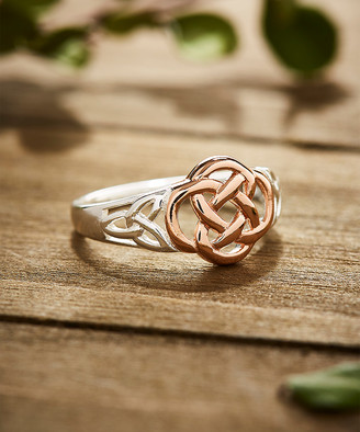 Celtic Vera & Co. Women's Rings - Two-Tone Knot Ring