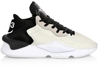 Y-3 Kaiwa Mix Media Leather Chunky Sneakers