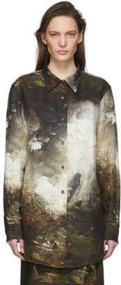 Acne Studios Green Landscape Painting Shirt