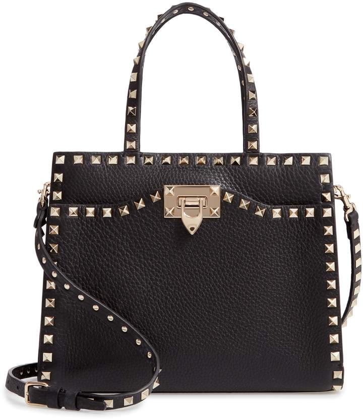 Valentino Small Rockstud Leather Satchel