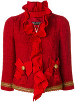Dolce & Gabbana ruffled tweed jacket