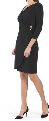 Jersey Draped Wrap Style Dress