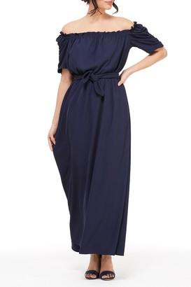 Gal Meets Glam Sydney Waist Tie Maxi Dress