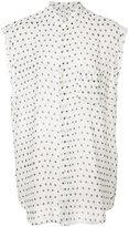 Saint Laurent sheer polka dot blouse - women - Silk - 42