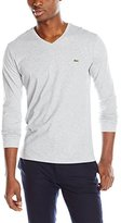 Lacoste Men's Long Sleeve V Neck Tee Shirt