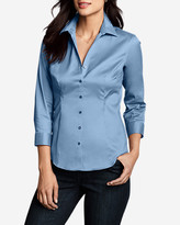 Eddie Bauer Women's Wrinkle-Free 3/4-Sleeve Shirt - Solid