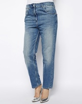 High Waisted Mom Jeans - Blue