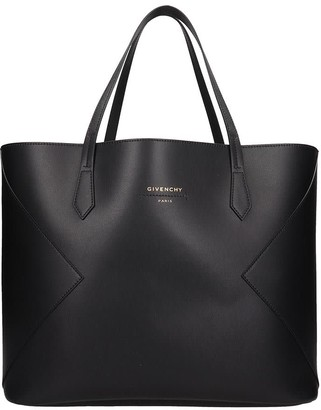 Givenchy Wing Shopping Tote In Black Leather